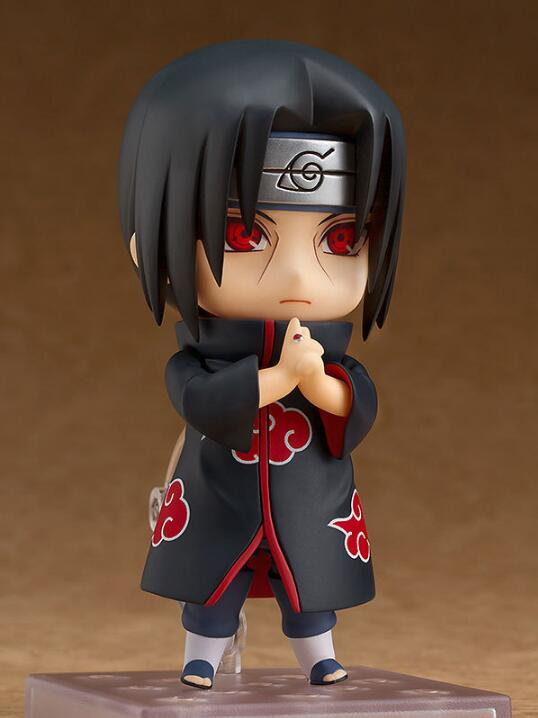 10cm Naruto Nendoroid Shippuden Uchiha Itachi 820# Anime Action Figure PVC toys Collection figures for friends gifts 32