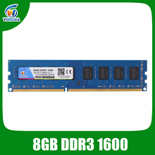 VEINEDA Dimm ram ddr3 8gb 1600MHz 1.5V memoria ram For all Intel AMD Desktop PC3-12800 8gb ddr 3 non-ECC memory
