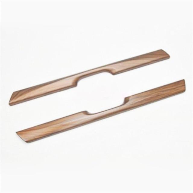 For Honda CRV CR-V 17-18 2pcs Wood Grain Water Cup Holder Stripe Cover Trim Car Sticker Decoration Interior Accessories Mayitr 2