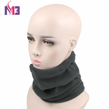 10PCS/lot New Winter Women Polar Fleece Neck Warmer Thermal Snood Ring Scarf Hat Ski Wear Snowboarding Unisex Men Neck Warmer
