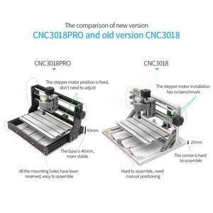 Image 5 - CNC3018 لتقوم بها بنفسك طقم أدوات التوجيه باستخدام الحاسب الآلي 2 في 1 ماكينة الحفر بالليزر الصغيرة التحكم GRBL 3 محور الخشب نحت طحن آلة الحفر