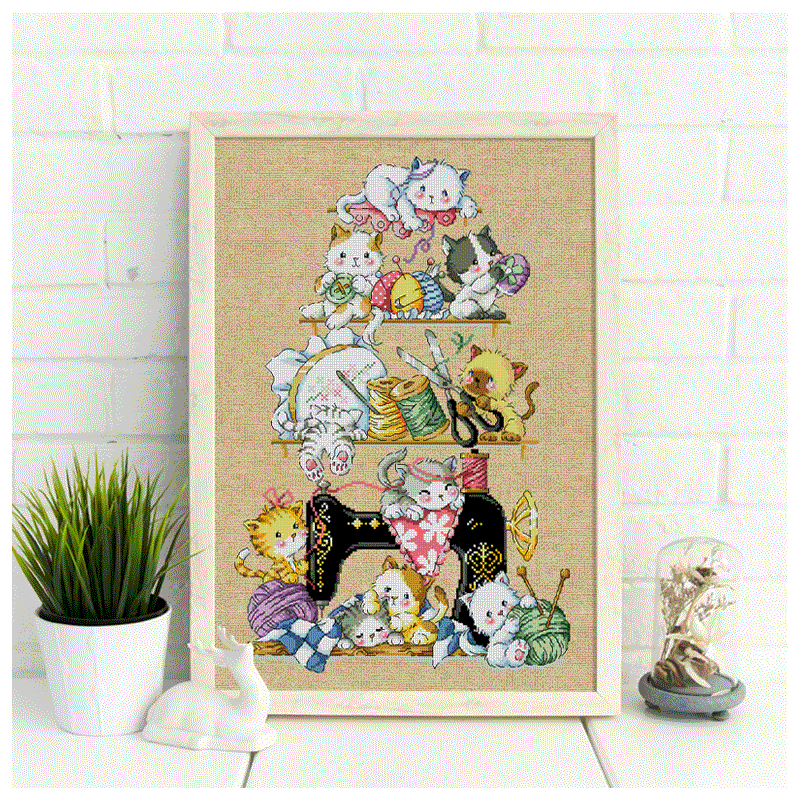 DIY Needlework Wedding Christmas Gifts Happy Christmas 11 CT Stamped 57/×68 cm YEESAM ART New Cross Stitch Kits Advanced Patterns for Beginners Kids Adults