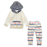 spring baby girl clothing sets hoodies+pants clothes suits infant girl hoodied sweaters toddler girls sweatshirts striped pants