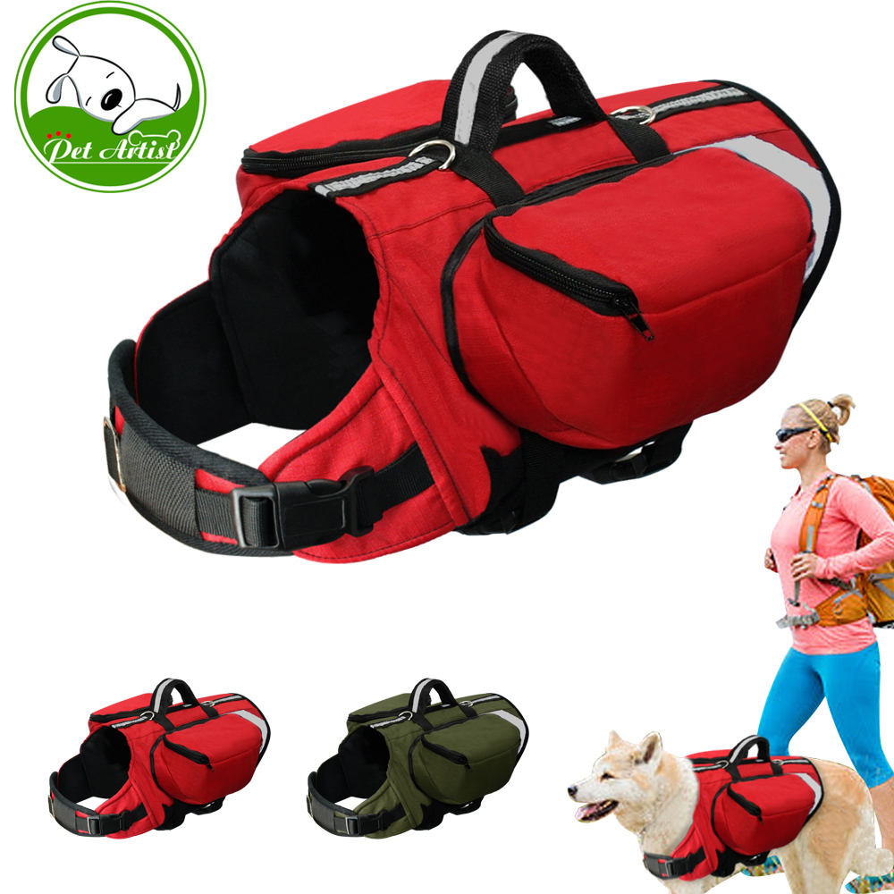 Dog BackPack Harness Pet K9 Hound Outdoor Vest Harnesses Travel Camping Hiking Backpack  ...