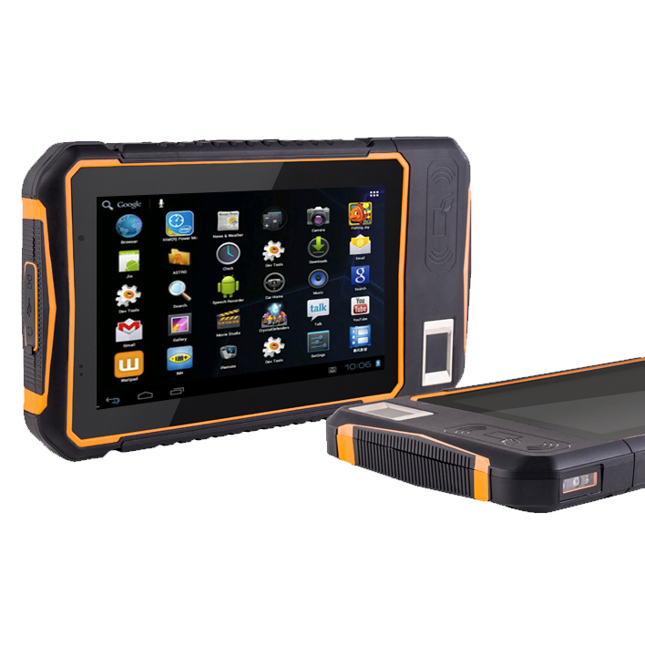 7 Inch Outdoor IP65 Industrial Rugged Tablet PC Handheld Barcode Scanner Android Tablet With NFC RFID Barcode Scanner 10 1 rugged 2g ram 32g rom windows 10 android 5 1 intel cherrytrail z8350 rugged tablet with barcode scanner nfc fingerprint