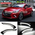 LED DRL Fog Lamp For Mazda 2 2015 2016 LED Daytime Running Light with Turn Signal Lamp Car Styling Accessories