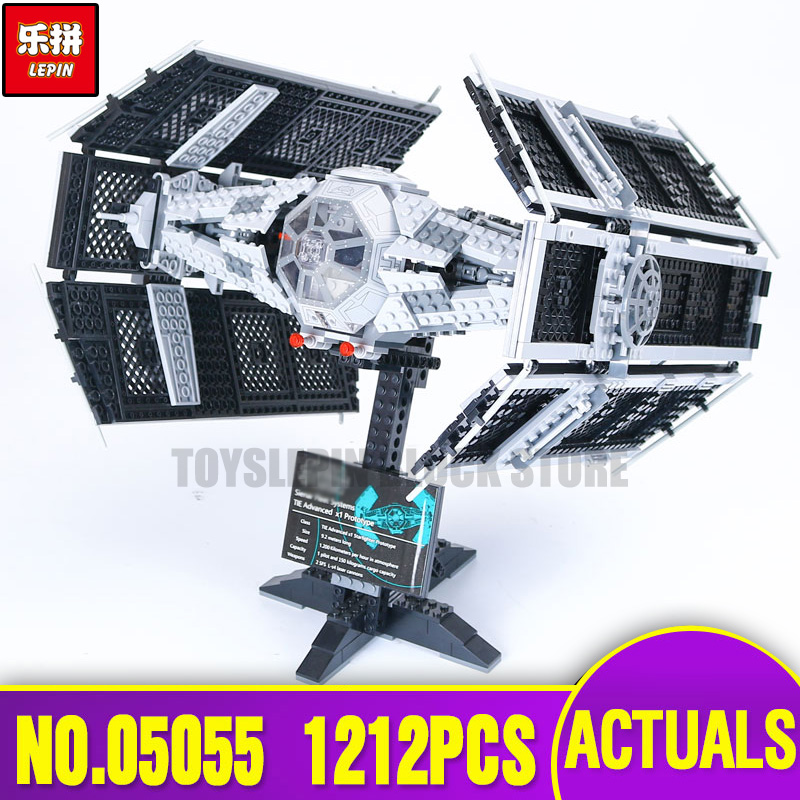 Lepin 05055 Star Series The Wars Rogue TIE One USC Vader Advanced Fighter Educational Building Blocks Bricks Toy legoing 10175 new 1685pcs lepin 05036 1685pcs star series tie building fighter educational blocks bricks toys compatible with 75095 wars