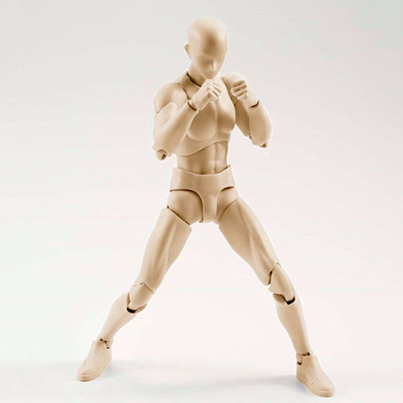 6 Types Body KUN Body Chan SHFiguarts PVC Action Figure DX SET Figma He She Solid Black Pale Orange Gray Ver In Box  (16)
