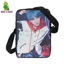 BTS Messenger Bag Women Men Travel Bag Kpop Idol Bangtan Boys V SUGA JIMIN Mini  Shoulder e894b53b01dab
