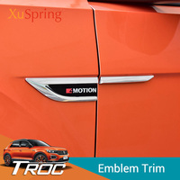 Car Side Wing Fender Emblem Badge with 4 Motion Stickers Trim Original for vw T roc Troc 2017 2018 2019 Car Styling