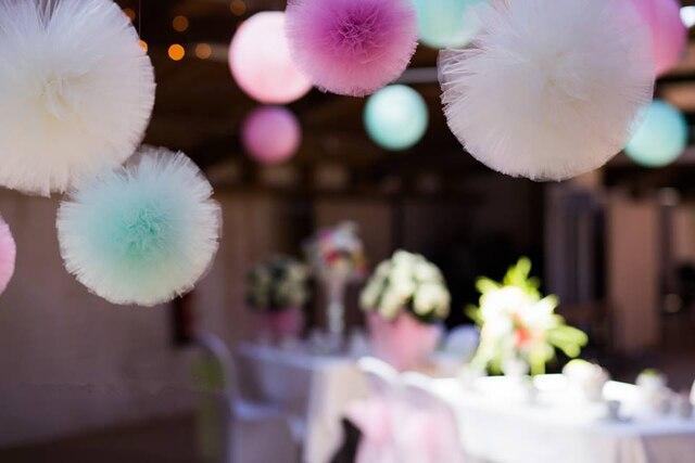 10cm15cm20cm30cm tulle pompoms party wedding decoration tulle pom 10cm15cm20cm30cm tulle pompoms party wedding decoration tulle pom pom baby junglespirit Image collections