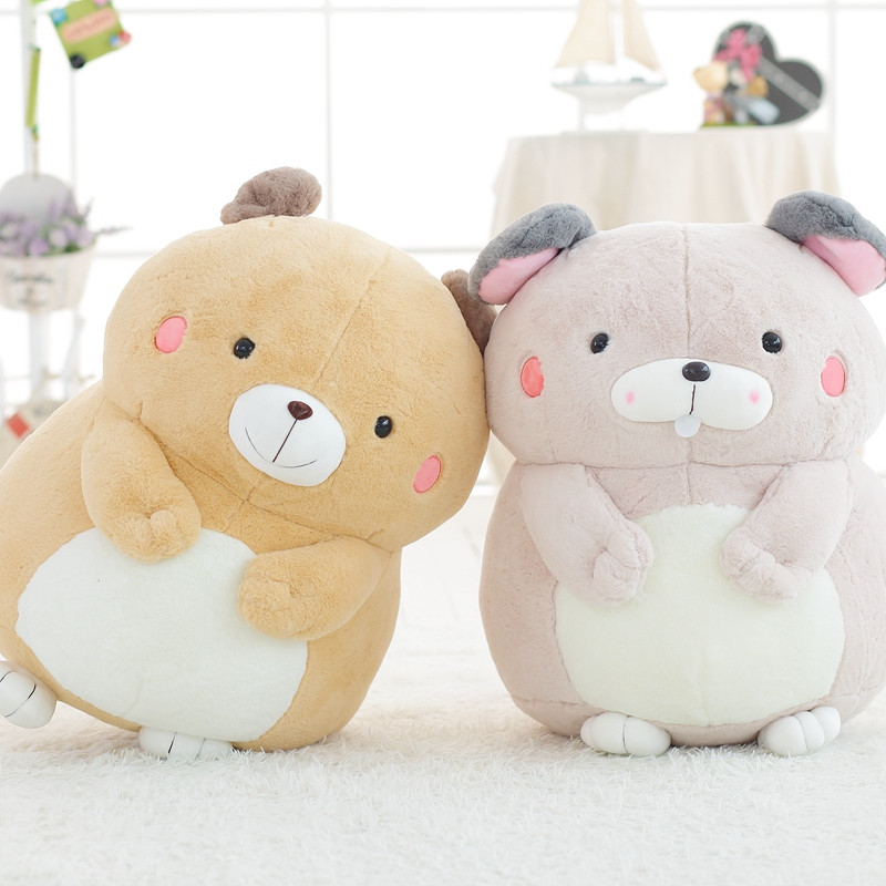 30cm Kawaii Stuffed Marmot Bear Rabbit Plush Toys Soft Cute Animal Dolls for Kids Baby Childrens Birthday Gift Home Decoration
