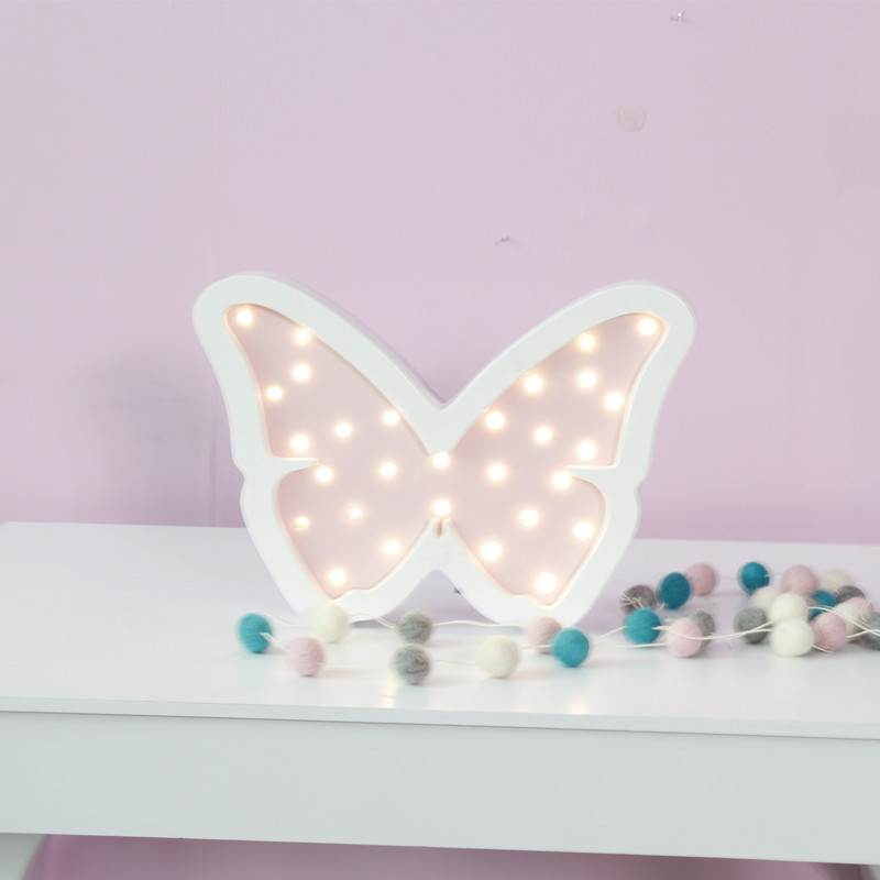 Beautiful Butterfly Wooden Led Night Light Children Baby Sleeping Table Lamp Cartoon Leds Children Room Decoration Toy Gift lion лион очарование экстра чистота средство для мытья посуды флакон 380 мл