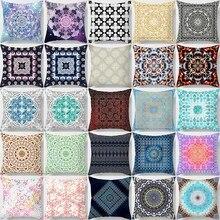 Hot sale square pillow case  mandala flowers Creative design many patterns pattern cover 45*45cm