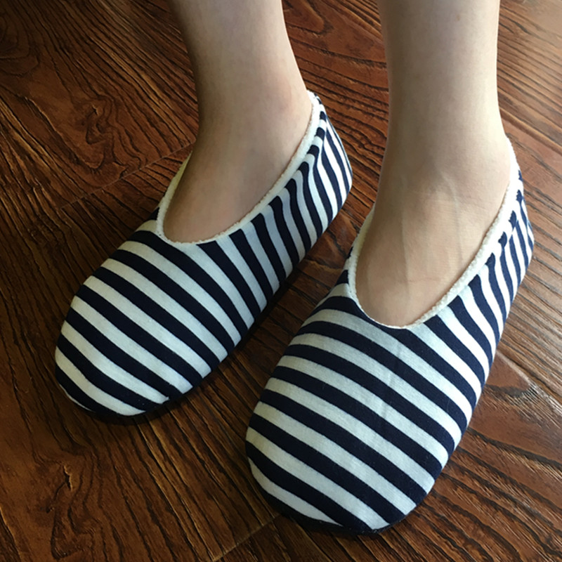 Slippers Women Zebra Stripes Creative Home Shoes Womens Cotton Indoor Floor Soft Plush Antiskid Slippers soft house coral plush slippers shoes white
