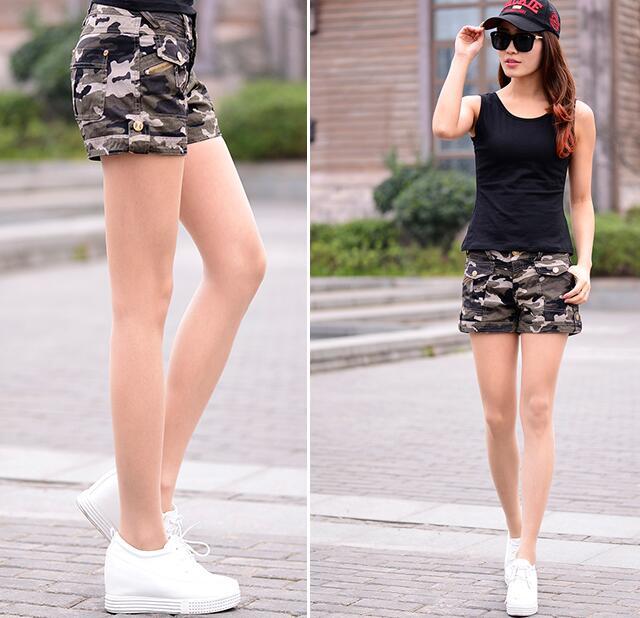 Aliexpress.com : Buy Women Cargo Shorts Army Green Short Shorts ...