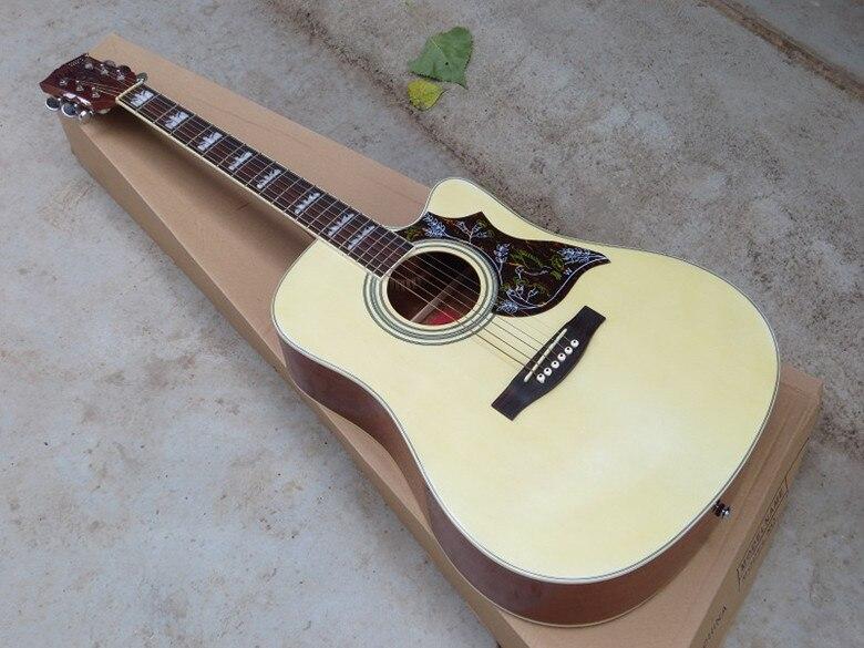 Firehawk 41 J45 Spurce Топ клен по бокам и сзади разрезе акустической Гитары может быть установлен Фишман 101/301 пикап