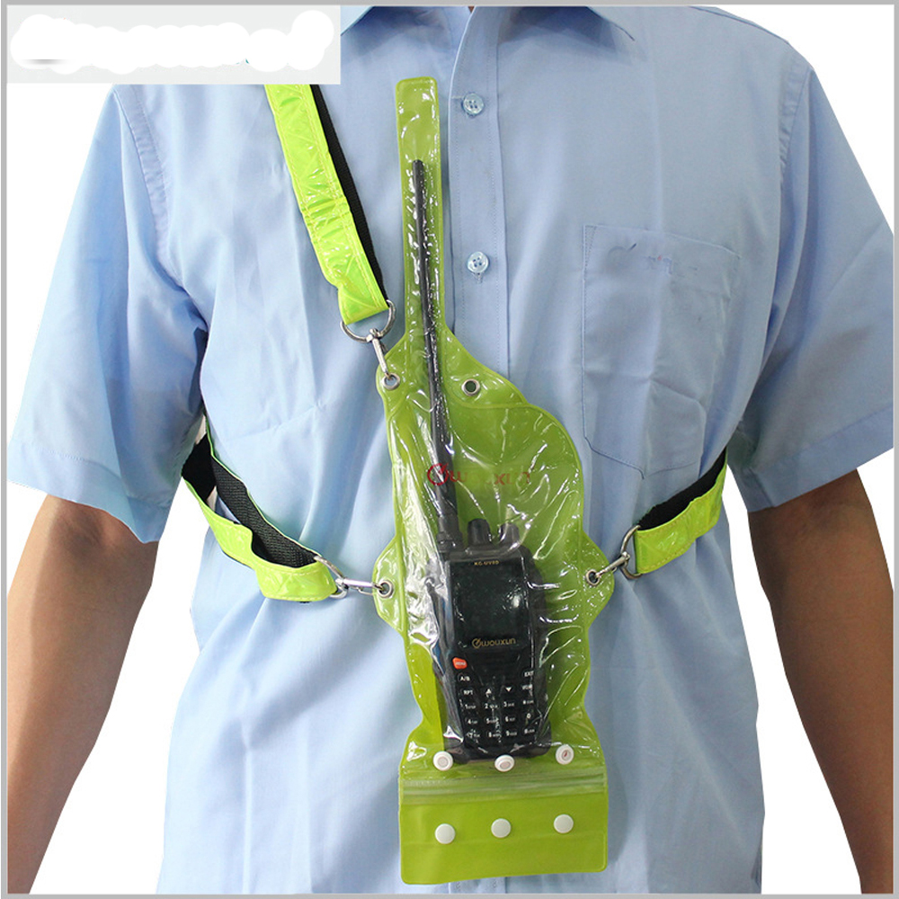 Original WOUXUN walkie talkie bolsa impermeable para radio de dos vías KG-UV8D KG-UV9D para baofeng Kenwood walkie talkie