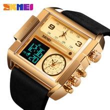 SKMEI erkekler spor saat üst lüks marka askeri saatler erkekler kuvars Analog dijital saatler Relogio Masculino 1391