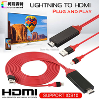 AirPlay 8 Pin Lightning To HDMI HDTV AV Cable Adapter For IOS 10 IPhone 5 6