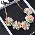Exaggerated Statement Necklace Chalker Chains Ladies Rhinestone Collier Femme Wholesale Fashion Necklace Massive Bijouterie