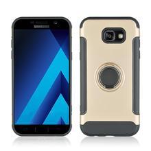 Scratch Resist 360° Rotating TPU+PC Ultra Thin Carbon Fiber Ring Bracket Mobile Phone Case For Samsung galaxy A7 2017 Anti knock