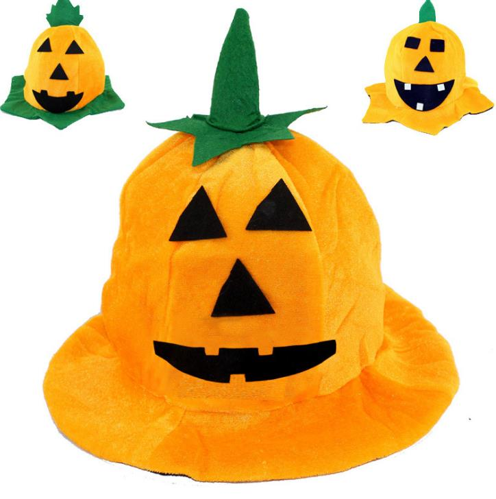 Halloween Supplies Ghost Festival Masquerade Performance Pumpkin Hat Children Party Hat Toy