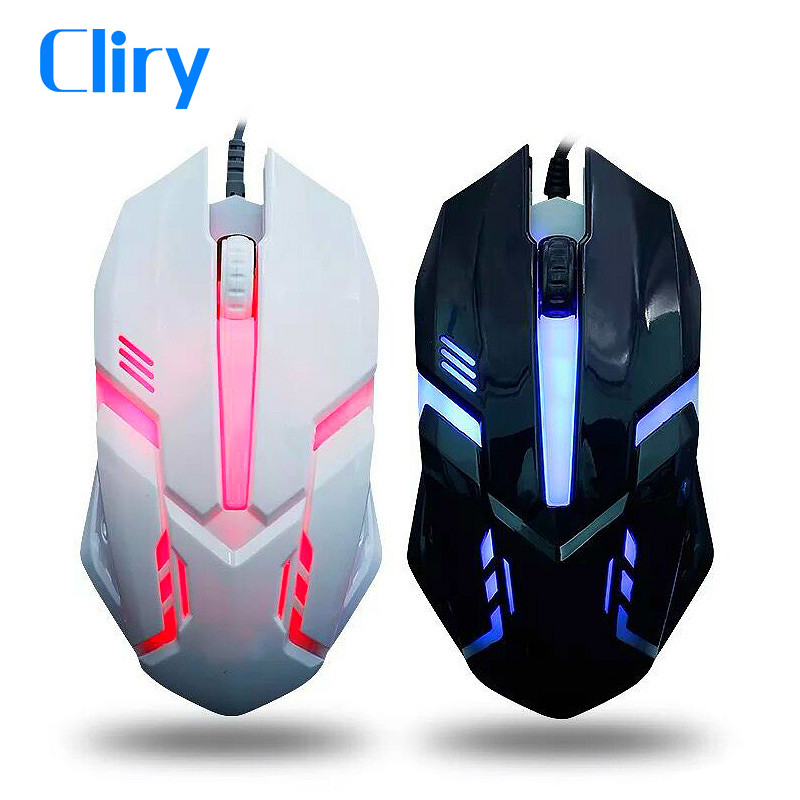 Cliry Wired Gaming Mouse 4 Color LED Light Hot Selling USB Optical Mini Computer USB Gamer Cheap Gamer Mice Laptop Desktop image