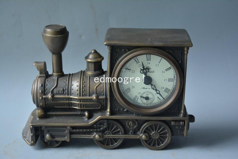 Horloge de beauté de la dynastie Qing | Horloge royale en cuivre, sculptée à la main, fonctionnant correctement, locomotive, magnifiquement conçue, livraison gratuite