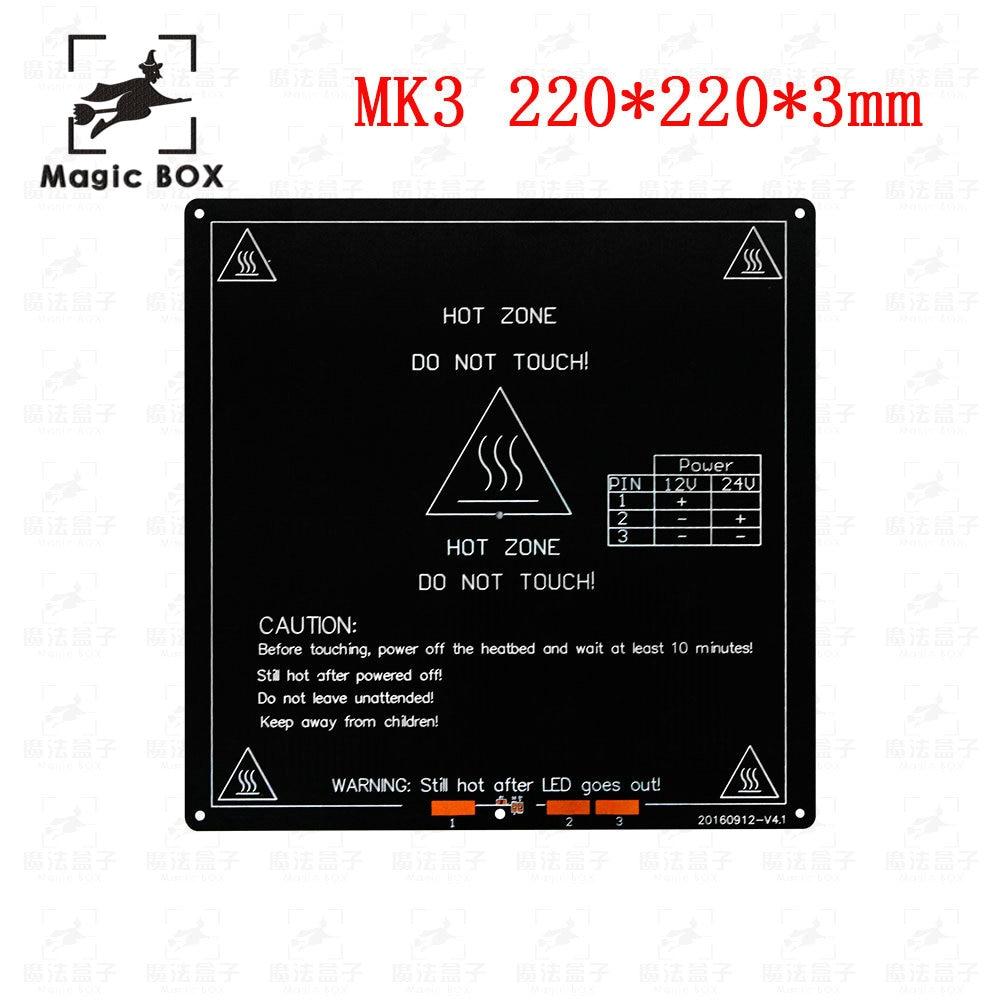 hight resolution of mk3 mk2 heated bed 12v 24v parts for reprap mendel hot hotbed 3d printers part 220
