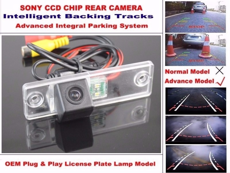 For TOYOTA 4Runner SW4 2002~2010  For TOYOTA Hilux Surf Smart Tracks Chip Camera HD CCD Intelligent Dynamic Rear View Camera (3)