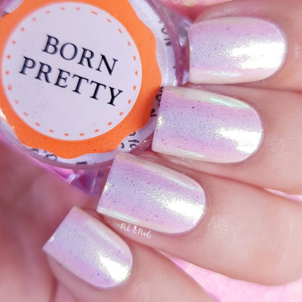 NACIDO PRETTY 0.2g Cromo en polvo Nail Art Pigmento de cromo Sirena - Arte de uñas