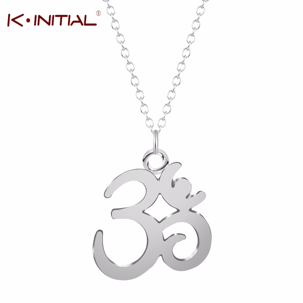Online get cheap symbols for friendship aliexpress alibaba kinitial 10pcs new yoga om pendants necklaces fashion gold silver plated meditation om symbol statement chain biocorpaavc Images
