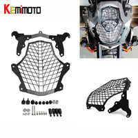 KEMiMOTO Stainless Steel Front Lamp Headlight Guard Protector Cover for KTM 1190 Adventure 1190 R 1290 SA Super Adventure