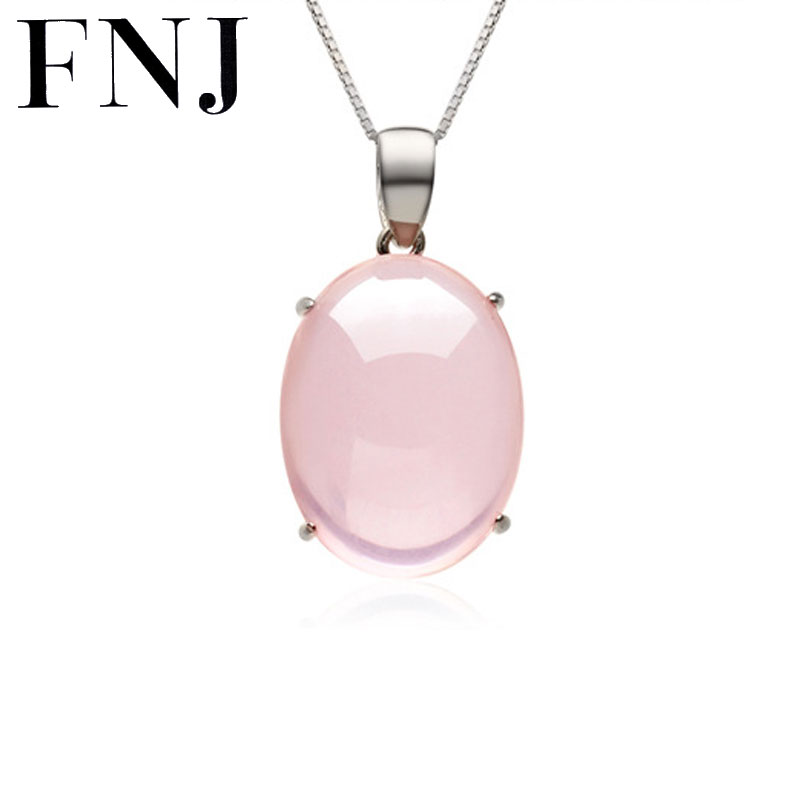 FNJ Natural Stone 100 Pure 925 Sterling Silver Pendants for Women S925 Solid Silver Pendant Necklace