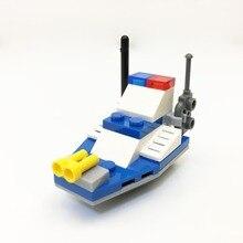 2525 KapllEarly bildung digitale Blocks chase polizei boot Block spielzeug Ziegel ABS Spielzeug racing lokomotive auto Exploiter block 8 farbe