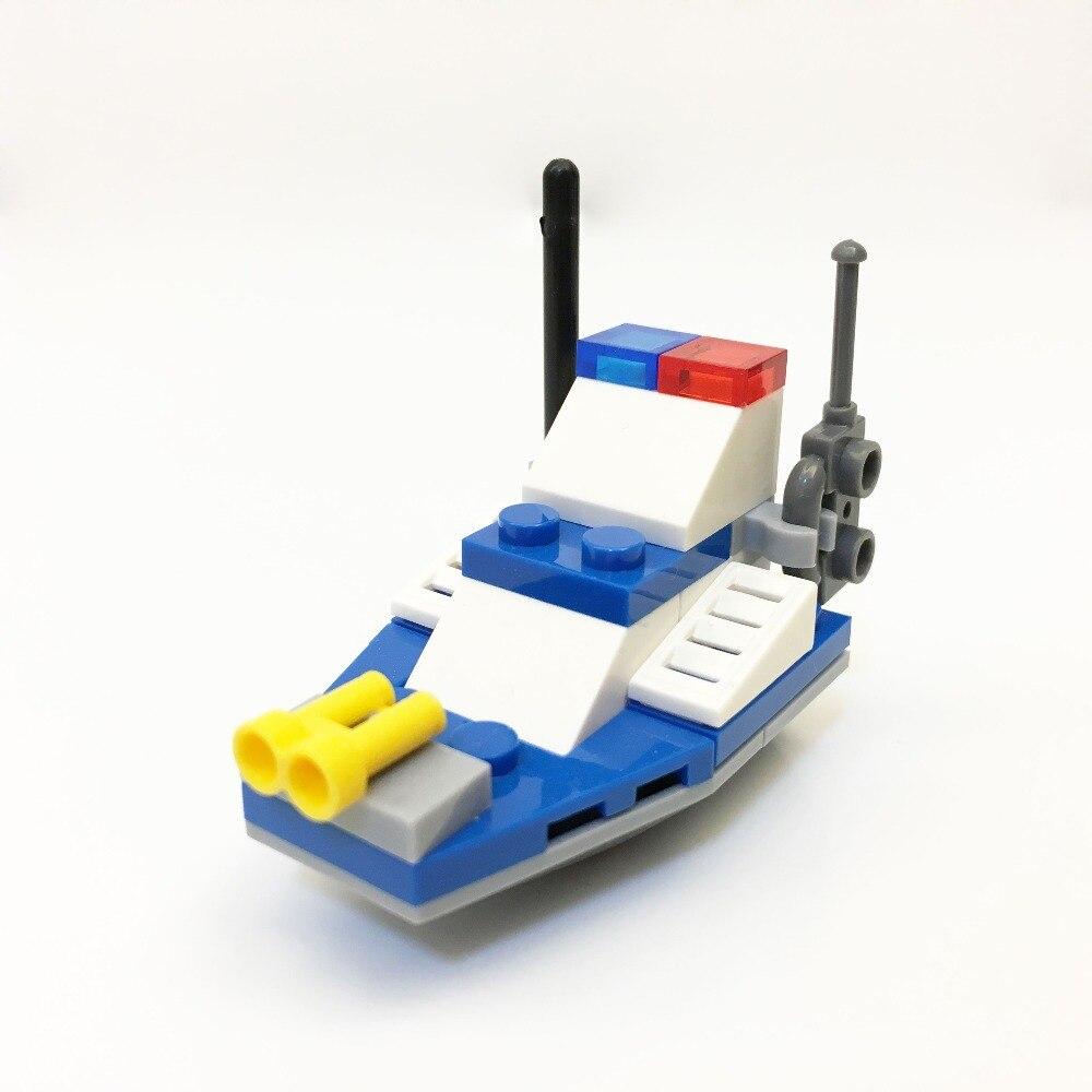 2525 kapllearly educación digital Blocs Chase policía barco bloque juguete Brick ABS juguete de carreras locomotora coche explotador Bloque 8 color