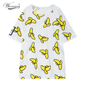 2017 Fashion Brand sweet banana print long loose t shirt women summer casual blusa couples tees tumblr camisetas mujer TS-024