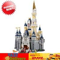 Замок фильма Совместимость LegoINGlys 71040 Золушка Принцесса игрушечные лошадки модель здания Конструкторы кирпичи развивающие Birhtdays подарки