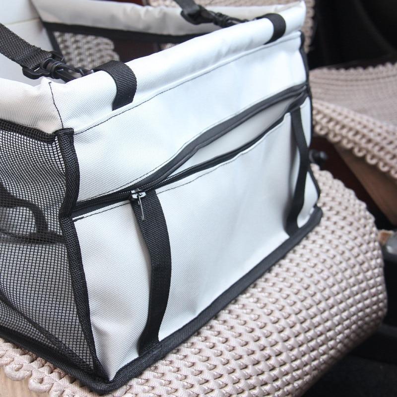 Pet supplies dogs gauze hang bag, Oxford cloth breathable seat pet car cushion