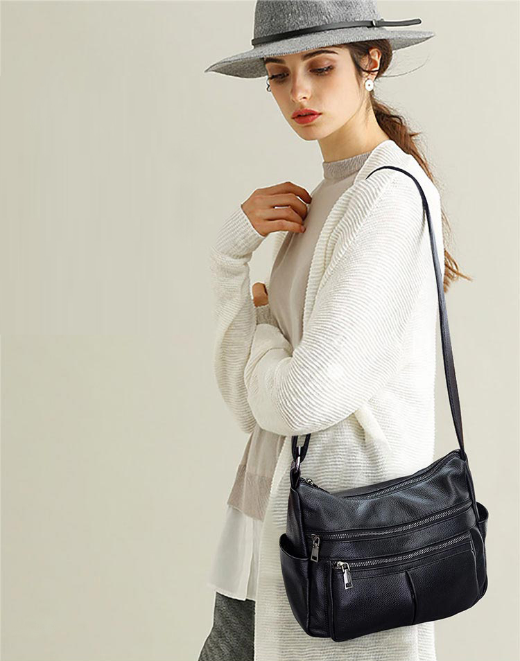 Marque Designer 2019 femmes en cuir véritable Vintage unique sac à bandoulière femmes sacs à bandoulière sacs à main pour dames - 6