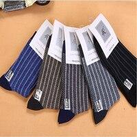 5PCS LOT Winter Cotton Male Stripe Socks Men Commercial Thermal Socks