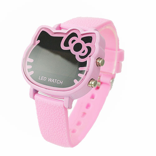 2014 Hot New Products Fashion Hello Kitty LED Digital Pink