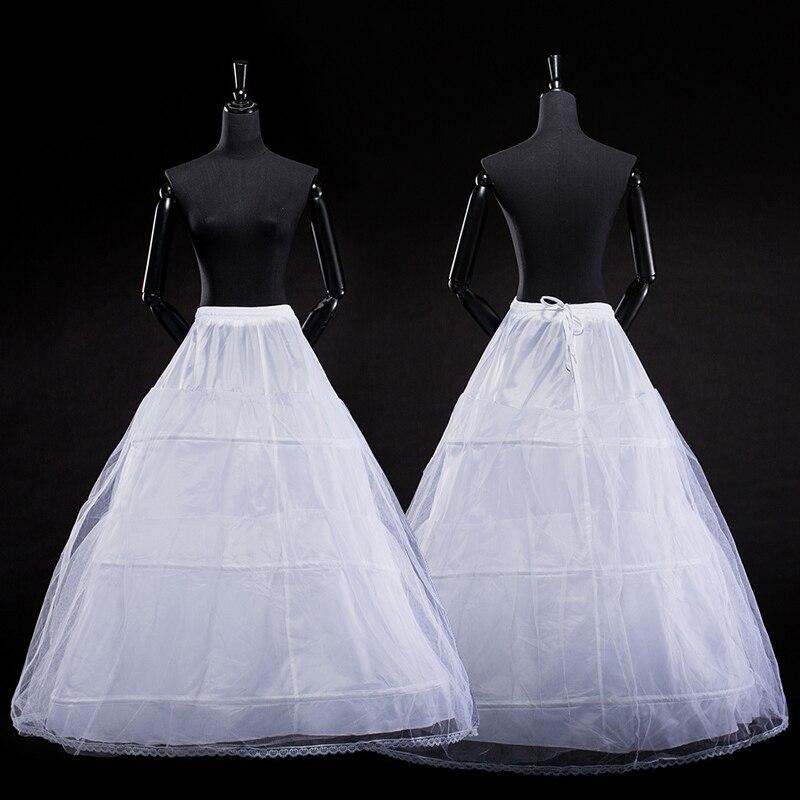Verngo Ball Gown Petticoats For Wedding Dress Elastic 3 Hoops One Tiers Dress Underskirt Crinoline Wedding Accessories