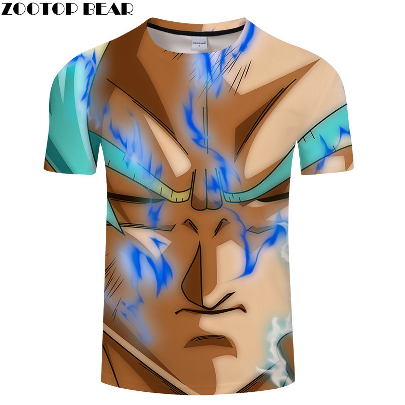 Camisetas 3D print T Shirt Men Quick Dry Summer Dragon Ball Tops Fitness Breathable Bodybuilding Casual Male Shirts ZOOTOPBEAR