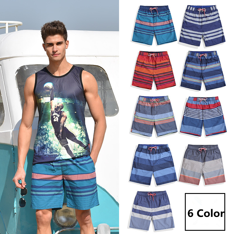 Quick Dry Surf Bermuda Beach Shorts Men Swimwear Liner Mesh Sweat Swimming Trunks Siwmsuits Sexy Black Plavky Mens Bathing Suits
