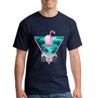 Customized Cool T Shirts Online Teenage Miami Flamingo Birds Mens Short Sleeve T Shirt Man O