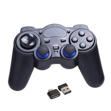 Universal 2.4G Wireless Game Joystick Black Gamepads for Android TV Box Tablets PC GPD XD Game Controller With USB Receiver FW1S
