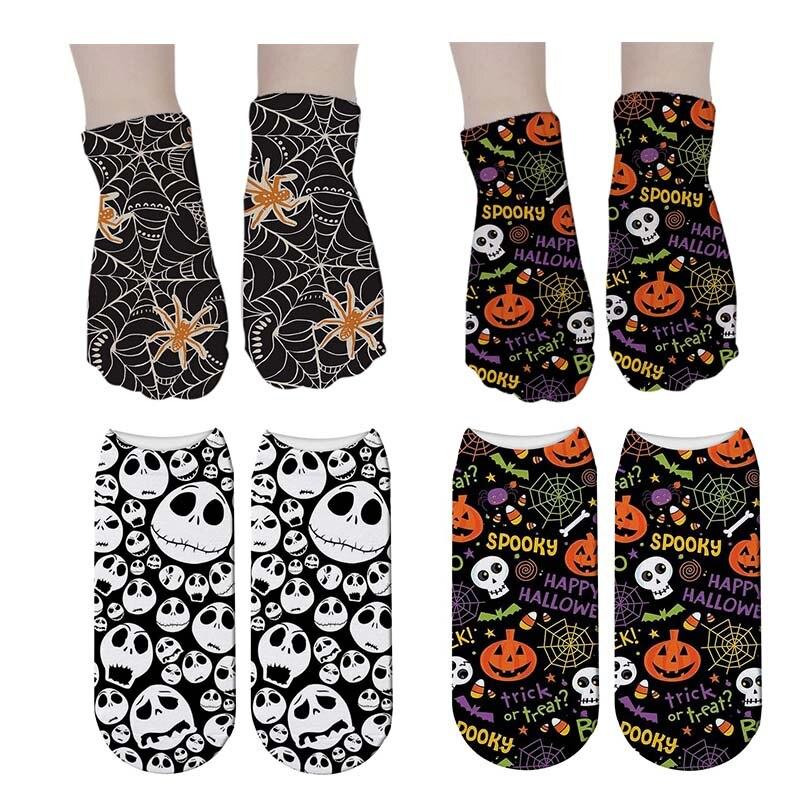 SexeMara New Women 3D Printed   Socks   Funny Pumpkin Lantern   Socks   Bone Halloween Horror Scary Sox Cosplay Party Gift Short   Sock