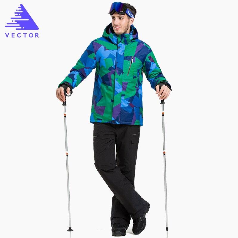 Vectoriel chaud hiver Ski costume ensemble hommes coupe-vent imperméable Ski snowboard costumes ensemble mâle extérieur Ski veste + pantalon marque - 4